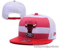 Chicago Bulls Snapback Hats Adjustable Caps Stripe Red/White|only US$6.00 - follow me to pick up couopons.