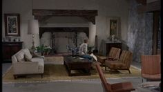 The second seating area in the living room...from the Parent Trap