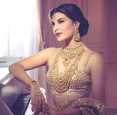 These Sexy Pictures of Jacqueline Fernandez Will Keep You Up All Night. Bollywood Celebrities, Bollywood Fashion, Bollywood Actress, Bollywood Saree, Desi Wedding, Wedding Looks, Wedding Dress, Indian Dresses, Indian Outfits