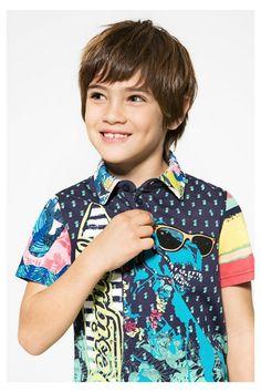 6e7be169103de Chaqueta azul para niño Romero   desigual kids   Boys, Baby wearing ...