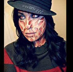 Halloween Makeup Freddy Krueger DIY no prostetics | Makeup ...
