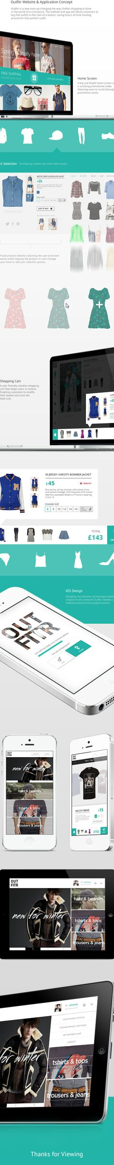 Outfitr Website  App by Jonathan Kelley, via Behance