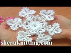 Snowflake Crochet Christmas Ornaments Tutorial 2 Part 1 of 2 Crochet Snow Flower - YouTube