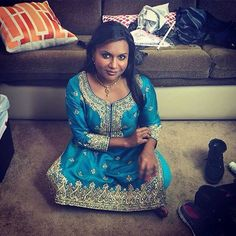 #BG spirit animal Mindy Kaling looks amazing showing off her roots in a traditional #Indian outfit!  |brown girl Magazine
