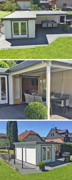 Das Moderne Flachdach Haus Quinta 44 Iso Hat Einen Großen Aufenthaltsraum Mit überdachter Terrasse