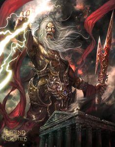 Artist: Yang Mansik aka yam8417 - Title: legend of the cryptids - Card: Hushovd, God of Lightning (Thunder)