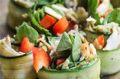 Szaladnak lefelé a kilók, ha így cseréled le a kenyeret - Ripost 21 Day Fix, Caprese Salad, Cucumber Roll Ups, Cantaloupe, Fruit, Pesto, Rolls, Turkey, Food