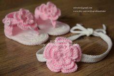 Crochet baby sandals and headband set gladiator by editaedituke