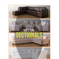 Shopping for a sectional? Here's your guide! Living Room Decor, Living Spaces, Interior Stylist, Service Design, Home Accessories, Modern Furniture, Sofas, Interior Decorating, Layout