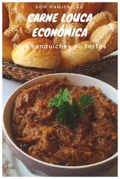 Para sanduíches ou recheio de tortas essa carne louca é preparada com carne de segunda mas o seu sabor é inigualável