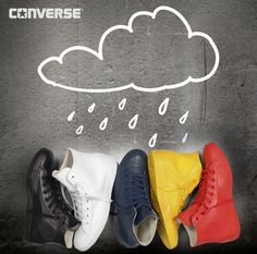 "Converse rain - no compromises, the new collection is made of rubber!  Waterproof Rain converse Chuck Taylor All Star Rubber is another ""friend of Skid Row"" I was always on boyfriends who even in rain or in winter wore Converse canvas, looked like a fool. And I guess I was not the only one. Since the converse over their fans compassion and a new collection of Chuck Taylor All Star Rubber that is adapted to the wear and to bad weather."