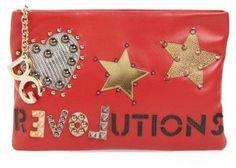 Dolce & Gabbana Medium Cleo Revolution Clutch - Red
