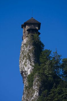 Lookout tower at Orva Castle, Slovakia.  Another great example of people risking their lives to build neat things in treacherous locations so I can post pictures of them on the internet.