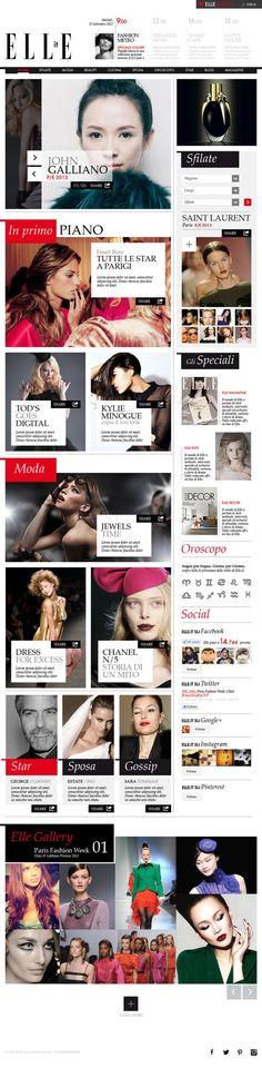 Elle Concept by Andrea Caucino, via Behance: