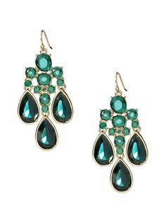 Gorgeous green earrings make your eyes pop!