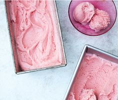 Roasted Strawberry-Buttermilk Sherbet | Epicurious.com