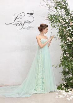 Leaf for Brides ( Wedding Dress Shapes, Colored Wedding Gowns, Dressy Dresses, Nice Dresses, Flower Girl Dresses, Mint Green Wedding Dress, New Designer Dresses, Mint Bridesmaid Dresses, Bridal Style