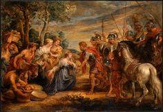RUBENS Pieter Paul - Flemish (Siegen 1577-1640 Antwerp) ~ Meeting of David and Abigail