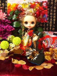 Japanese kimono oiran blythe beauty created by Rina Madarame