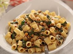 Get Rigatoni with Greens Recipe from Food Network