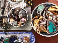 i have a ton of chunky rings and odds & ends accessories. this is so clever for your vanity top or dresser. one near the kitchen sink as well would be smart.
