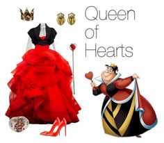 """""""Queen of Hearts"""" by andyarana ❤ liked on Polyvore featuring Marc Jacobs, Christian Louboutin, Elope, Judith Leiber and Jean Patou"""
