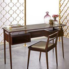 Boyd Herringbone Desk & Chair