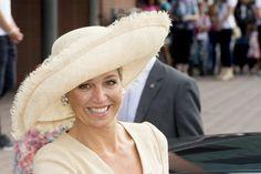 Queen Máxima in her 11-year-old Fabienne Delvigne hat.