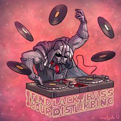 DJ Darth Fader by chris westgate, via Behance