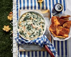 Warm Spinach-Sweet Onion Dip with Country Ham - On Poinsettia Drive Appetizer Dips, Appetizers For Party, Appetizer Recipes, Tailgating Recipes, Tailgate Food, Grilling Recipes, Dip Recipes, Cooking Recipes, Party Recipes