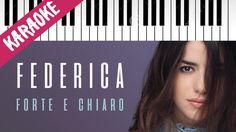 Federica Carta   Forte e Chiaro   AMICI 16   Piano Karaoke con Testo