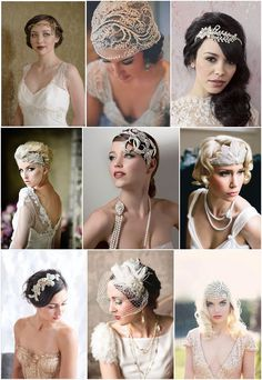 Find ideas and inspiration with French Wedding Style's Bridal Accessories Pinspiration - looking at the bridal styles of bohemian and vintage accessories