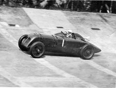 Margaret Allen racing the Mother Gun on the Brooklands track in 1936 #TransportThursday