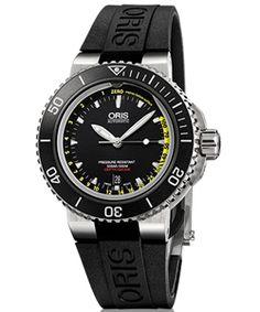 All'avanguardia nel campo degli orologi subacquei professionali, il nuovo Oris Aquis Depth Gauge è il primo strumento subacqueo che misura la profondità d'immersione permettendo all'acqua di penetrare all'interno dell'orologio.