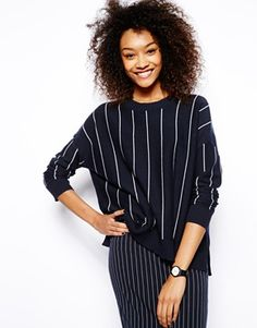 Image 1 ofMonki Stripe Knitted Top