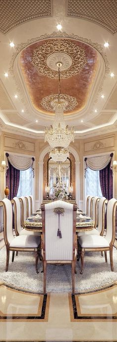 Luxurious décor from floor to ceiling