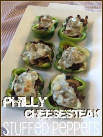 bugaboo, mini, mr & me: Philly cheesesteak stuffed peppers
