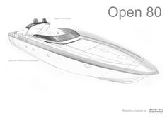 Otam introduces the new 80 Millennium Open, retaining the technical virtues of its predecessors 80 HT-Hard Top and offering a fantastic combination of performance and luxury. Yacht Design, Boat Design, Boat Sketch, Ship Sketch, Yatch Boat, Sailboat Yacht, Luxury Yacht Interior, Luxury Yachts, Speed Boats