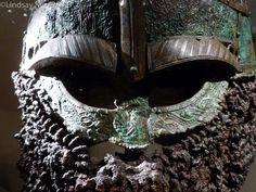 Detail of Valsgarde 8 helm. Upland, Sweden.