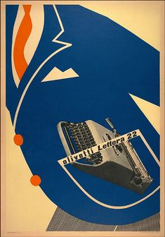 Egidio Bonfante, Poster for Olivetti Lettera 22 portable typewriter, 1951. Courtesy SFMOMA