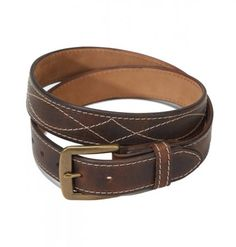 Americana Western #Stitch #Belt # 282 The #Stich pattern gives this Americana #Belt a #Western flair. Made in our San Diego Leather Shop of 5-6 oz. #Horween Vegetable Tanned Leather and finished with Nubuc Leather Backing and a Solid Brass Heel Bar Buckle and #Chicago Screws.