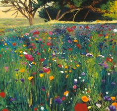 color: ELLEN DITTEBRANDT - Field of Poppies...I adore this one...so full of life and colour, I could almost take my shoes off and walk through it...
