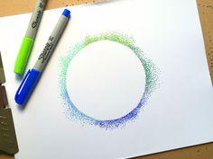 Cool pointillism DIY project