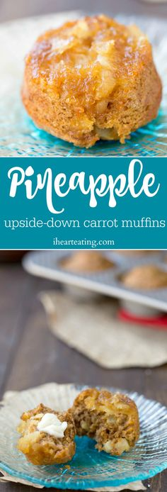 Pineapple Upside-Down Carrot Muffin Recipe - yummy, healthy Easter breakfast or brunch!