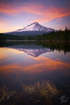 Sunset - Trillium Lake, Mt Hood, Oregon