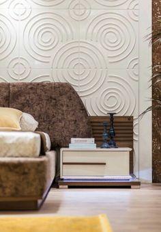 Komodin Sofa Design, Furniture Design, Bedroom Furniture, Bedroom Decor, Bedside Table Design, Bed Back, 3d Wall Panels, Italian Furniture, Upholstered Beds