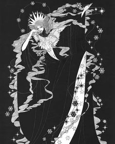 The Ice maiden (fairy tale) #illustrate #illustration #illustratorsofinstagram #illustrator #handdrawn #handdrawing #lineart #inkart #ink #instaart #blackandwhite #marinamika #contemporaryart #conceptart #minimal #minimalism #traditionalart #arts #artnow #artnouveau #fairytale #snowqueen #ethereal #fantasyart #fantasy #design #graphicdesign #graphics