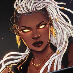 Afrofuturism Art And Cyberpunk Cartoon Kunst, Comic Kunst, Cartoon Art, Black Love Art, Black Girl Art, Art Girl, Storm Marvel, Storm Xmen, Black Comics