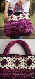 Crochet Bag Crochet Allons-y Bag Free Pattern - Crochet Handbag Free Patterns Instructions - Crochet Handbag Free Patterns Crochet Purse Patterns, Bag Crochet, Crochet Shell Stitch, Crochet Motifs, Crochet Handbags, Crochet Purses, Crochet Clothes, Bag Patterns, Crochet Baskets