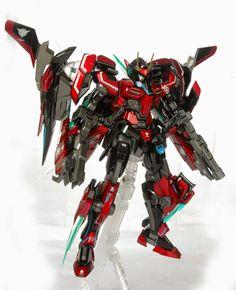 """00 Raiser + Seven Sword """"Revenant"""" Gundam Gunpla Custom, Custom Gundam, One Punch Anime, Gundam Mobile Suit, Gundam 00, Red Team, Frame Arms, Robot Concept Art, Mecha Anime"""